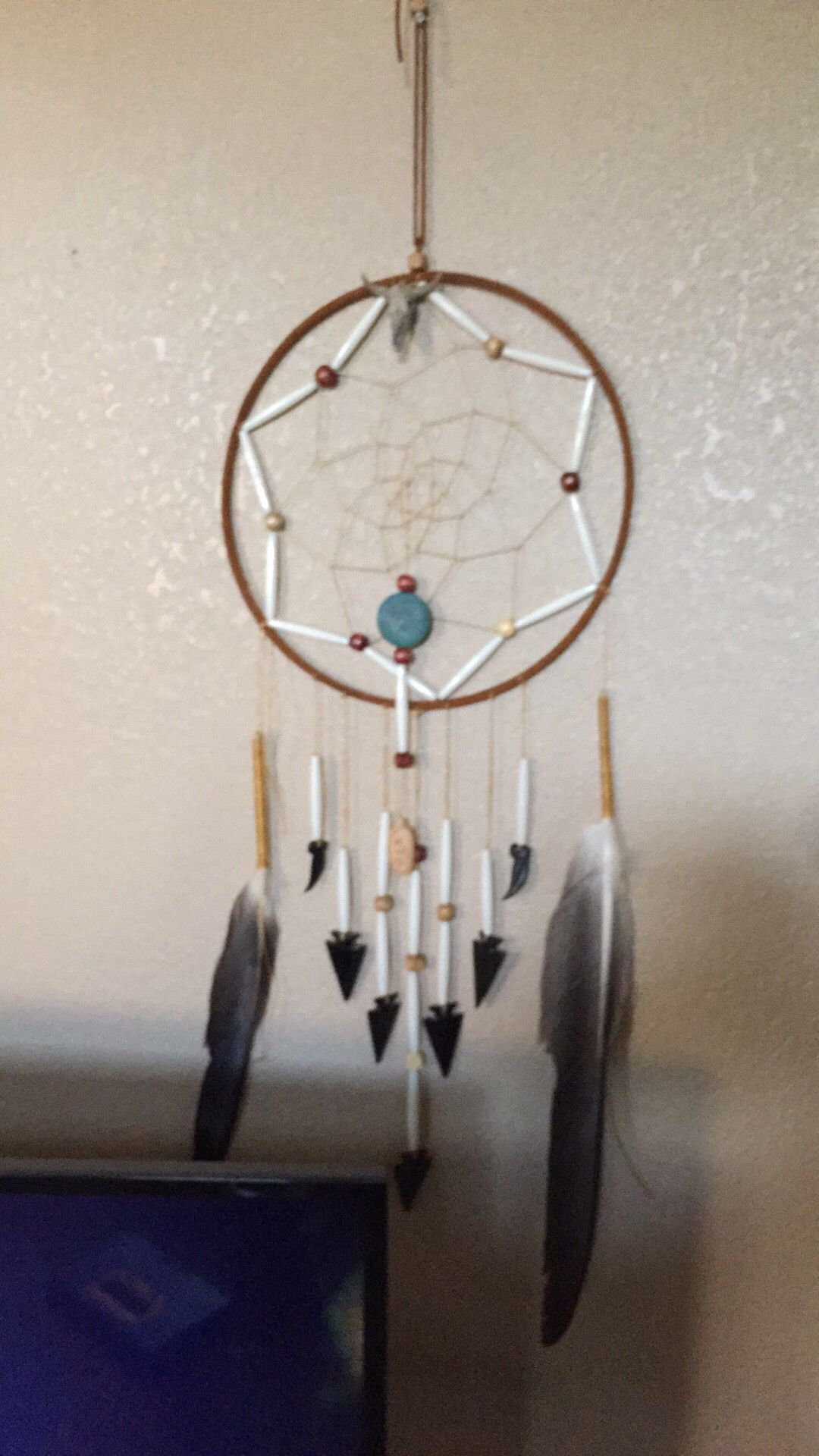 Dream Catcher With Eagle Feathers