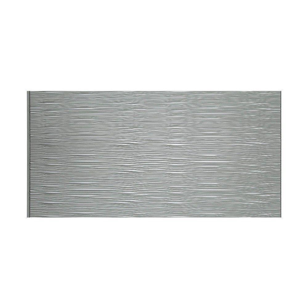 Fasade waves horizontal argent silver foot x foot wall panel