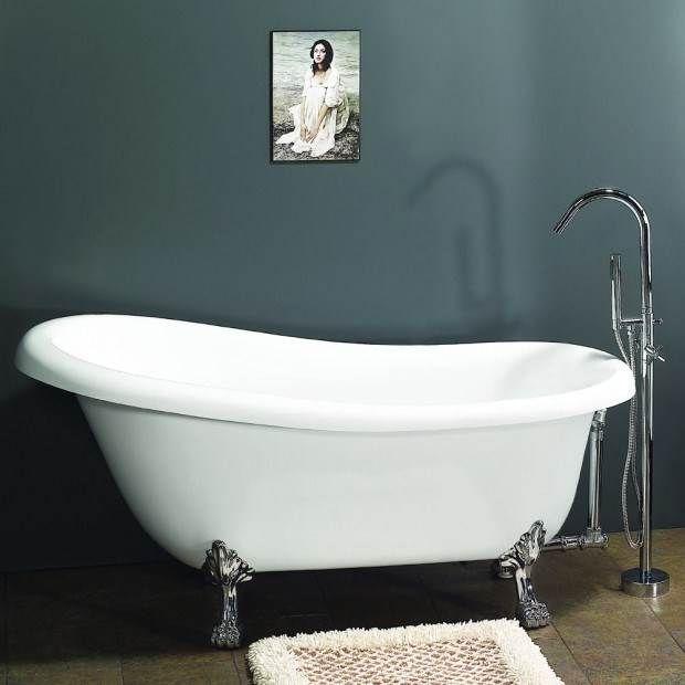 Claw Foot Bath Acrylic Bathtub 1722 Mm Amazing Baths