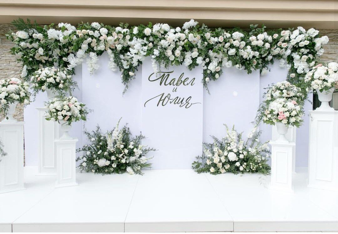 F8b99334 To Cover Up The Back Drop Off The Church Big Day Di 2019 Dekorasi Wedding Backdrop Decorations Flower Backdrop Wedding Garden Wedding Decorations