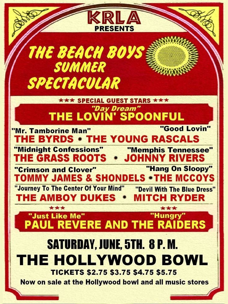 THE BEACH BOYS CONCERT POSTER