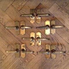 Reclaimed Vintage Brass Door Handles Brass Door Door Handles