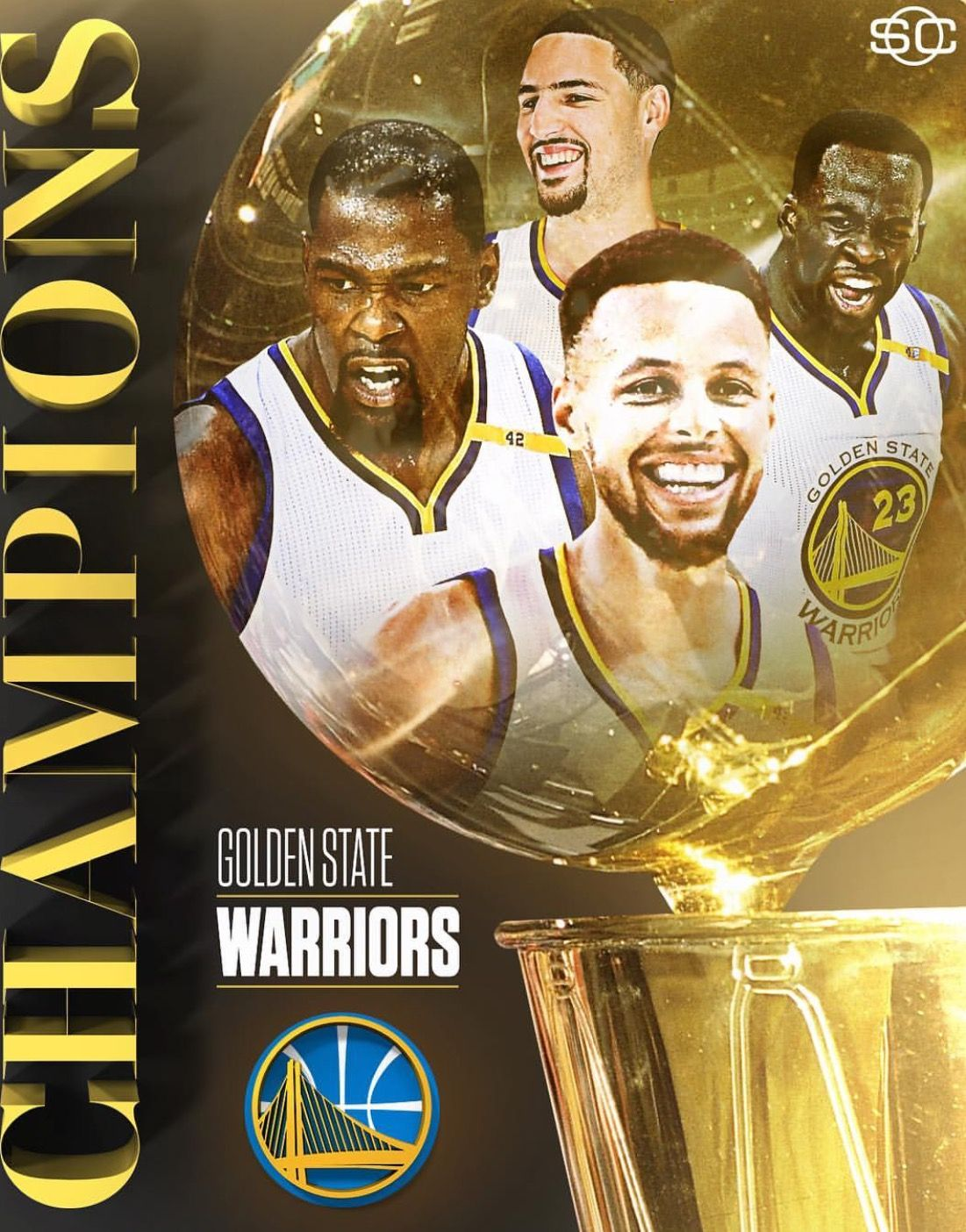Congrats to the Golden State Warriors! NBA champions for the time in 3  years!