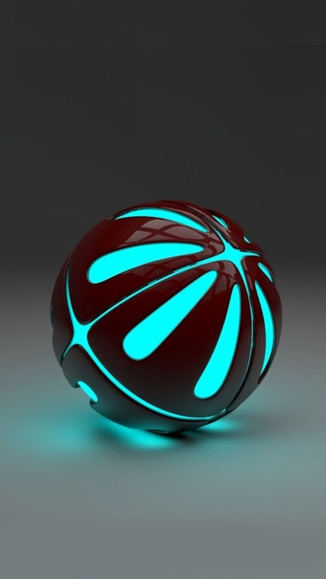 Blue-3D-stereo-Ball-iphone-5-wallpaper-