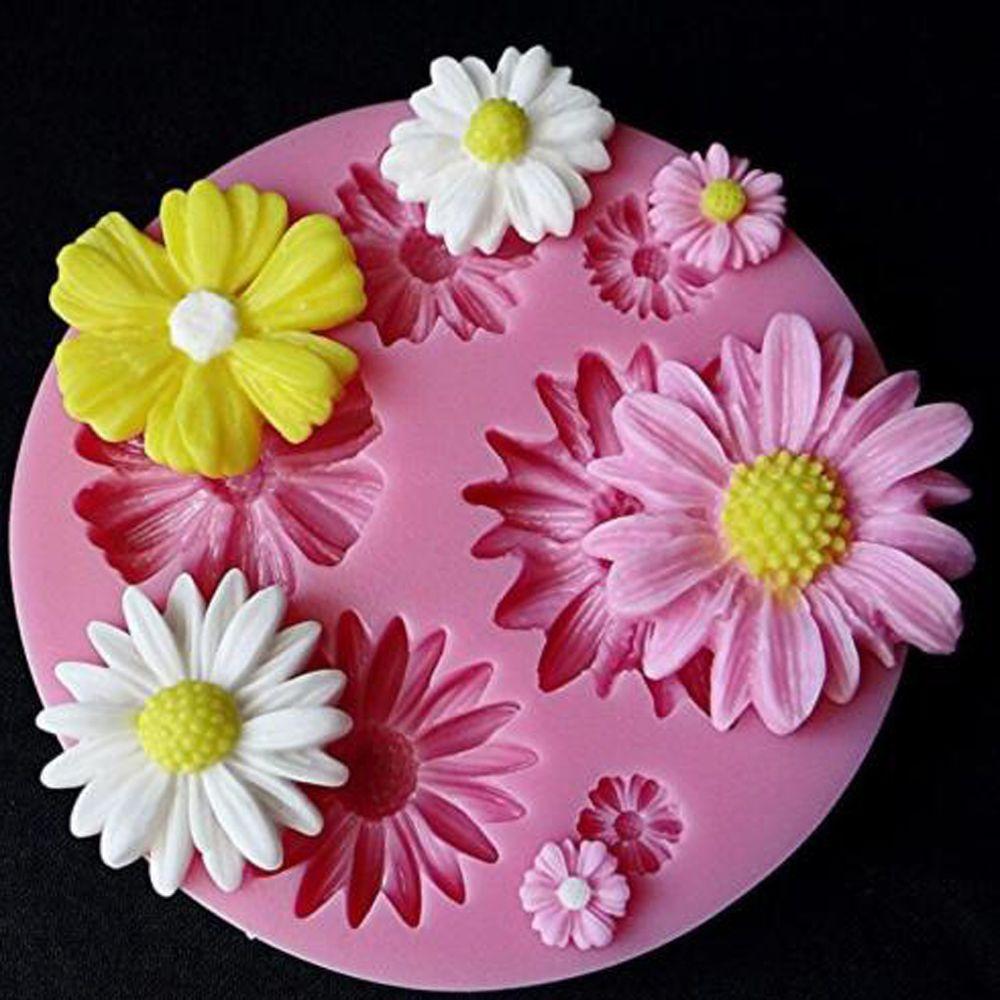 Flower Border Silicone Fondant Mould Cake Decoration Sugarpaste Icing Clay FA
