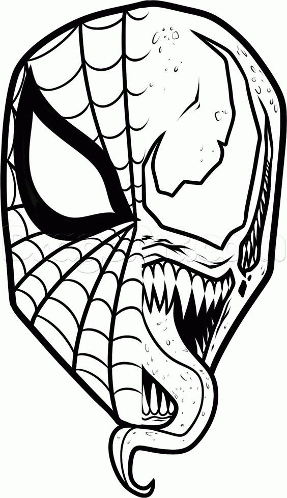 How To Draw Spiderman And Venom By Dawn Spiderman Drawing Marvel Drawings Spiderman Painting