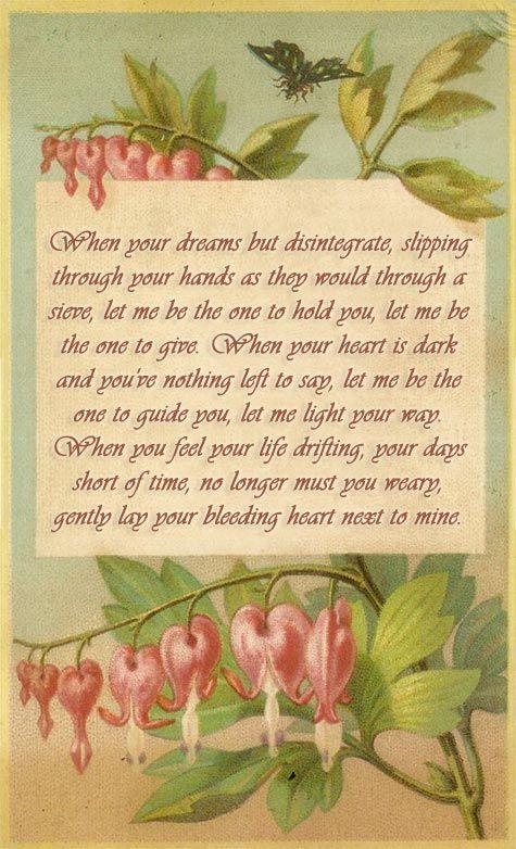 Bleeding Heart Poem Mom Heart Tattoo Flower Quotes Bleeding Heart