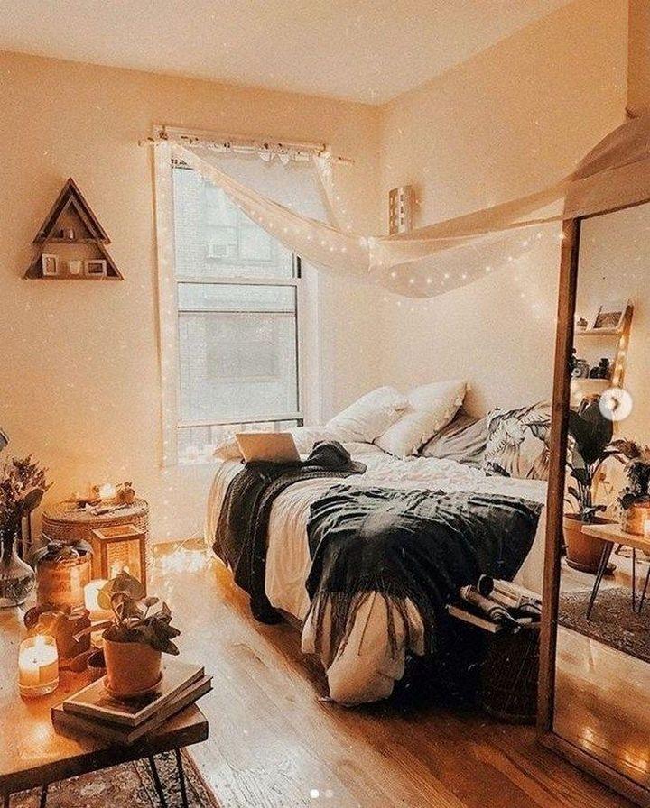 87 Diy Cozy Small Bedroom Decorating Ideas On Budget 15 Cozy Small Bedrooms Beautiful Dorm Room Small Bedroom Decor Small bedroom ideas cozy
