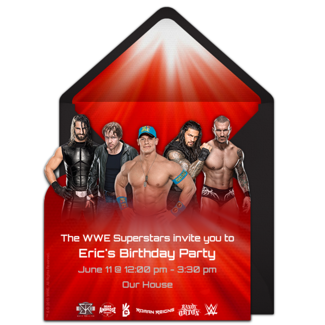 Customizable Free WWE Group Online Invitations Easy To Personalize And Send For A Birthday Party Punchbowl