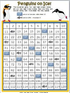 Classroom Freebies: Penguin Counting on the 120 Chart