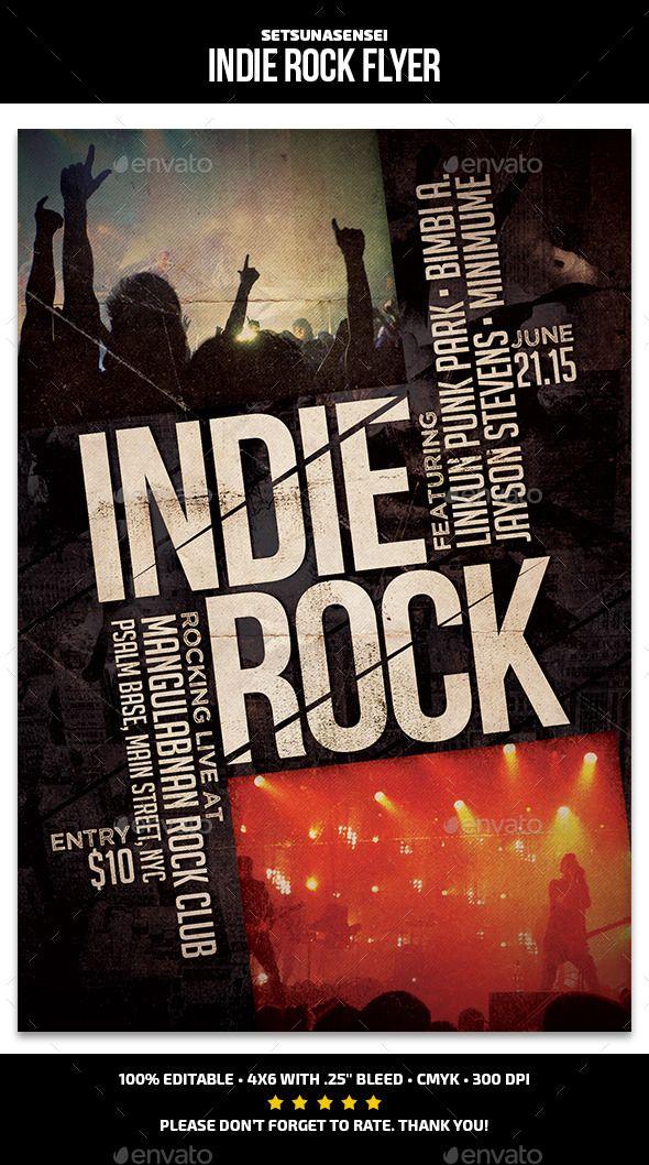 Indie Rock Flyer Indie Rock And Flyer Template