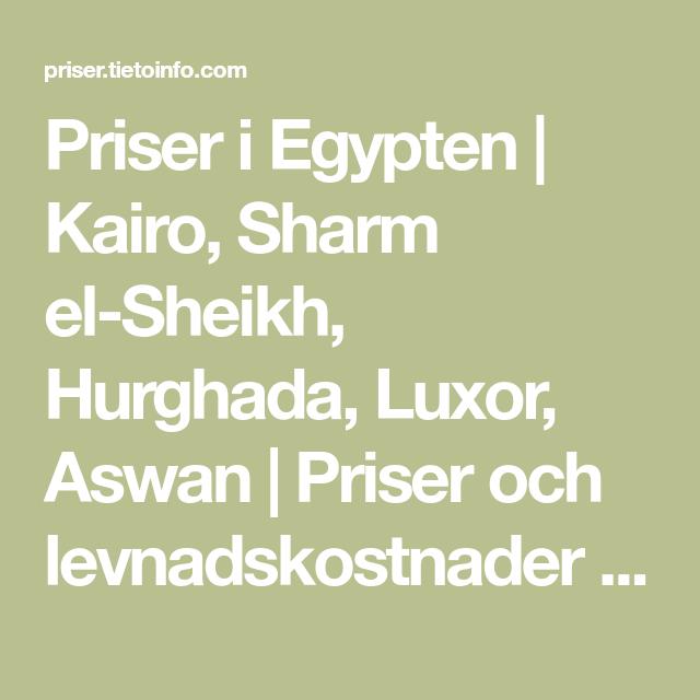 priser i egypten