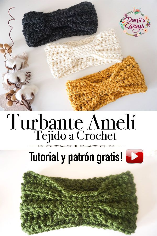 Tutorial paso a paso para aprender a tejer el turbante o diadema ...