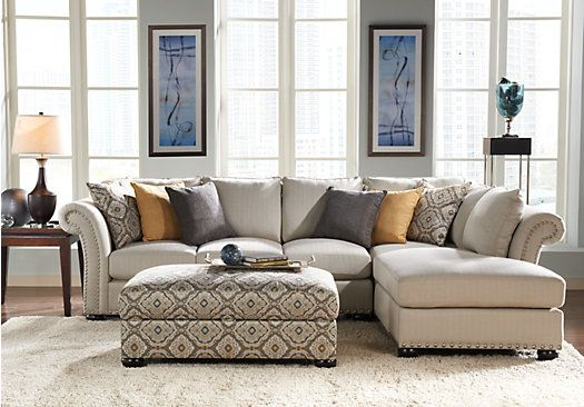 Shop For A Sofia Vergara Santa Barbara 3 Pc Sectional Living Room At Rooms To Go Find L Living Room Sectional Rooms To Go Furniture Sectional Living Room Sets