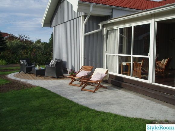 Uteplats uteplats framsida : altan,stenläggning,uteplats,trädäck | Gardens | Pinterest | Album ...