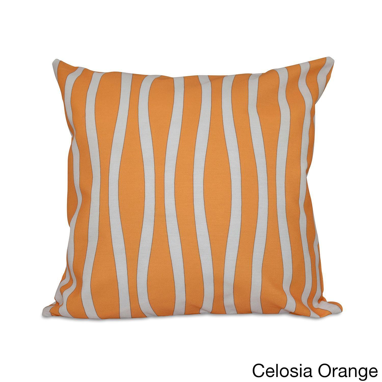 E by Design 18 x 18-inch Curvy Decorative Throw Pillow