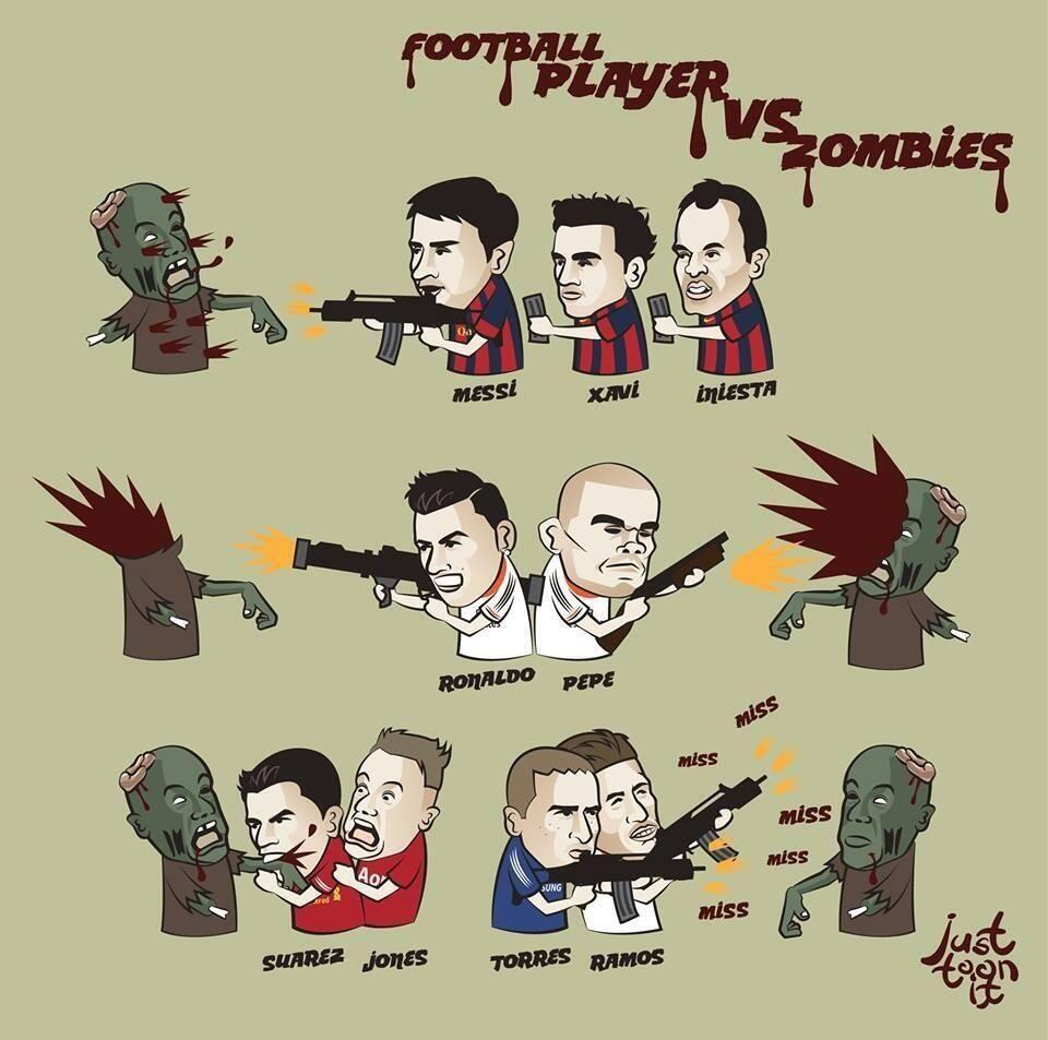 Football Player Vs Zombies