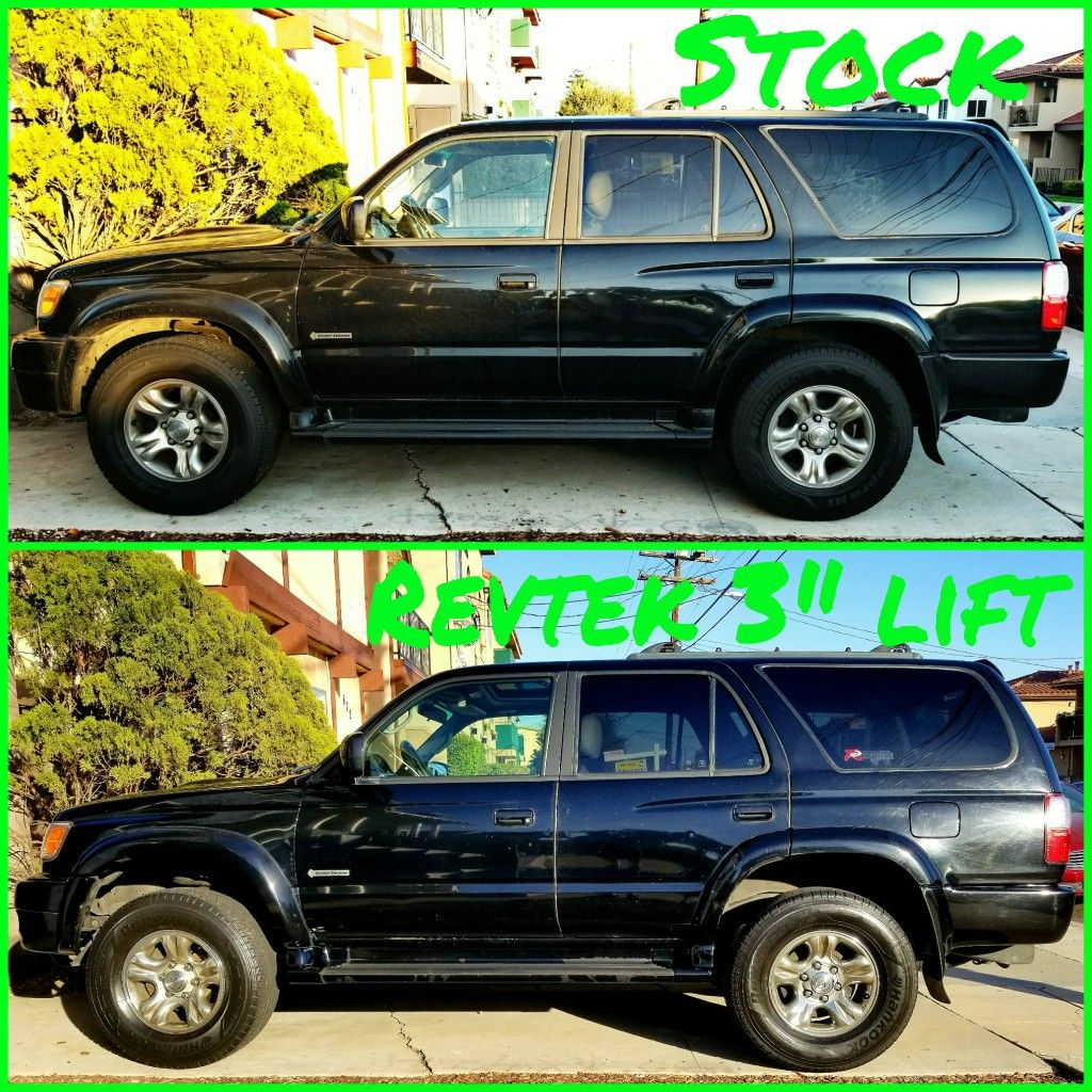 Before and after my 3 lift kit toyota 4runner 4runner