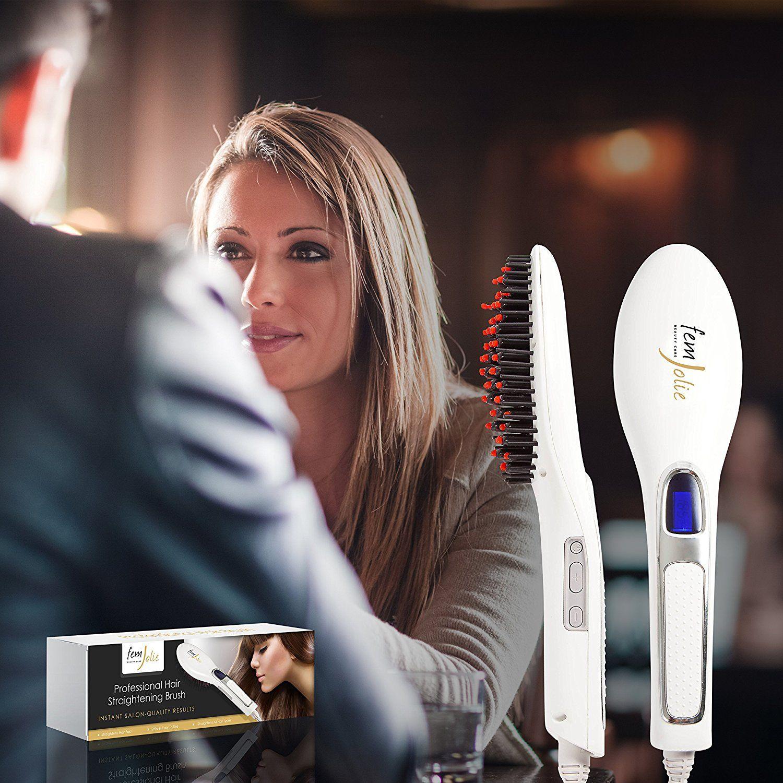 R M0NDAY SaIe FemJolie Hair Straightening Brush Best for