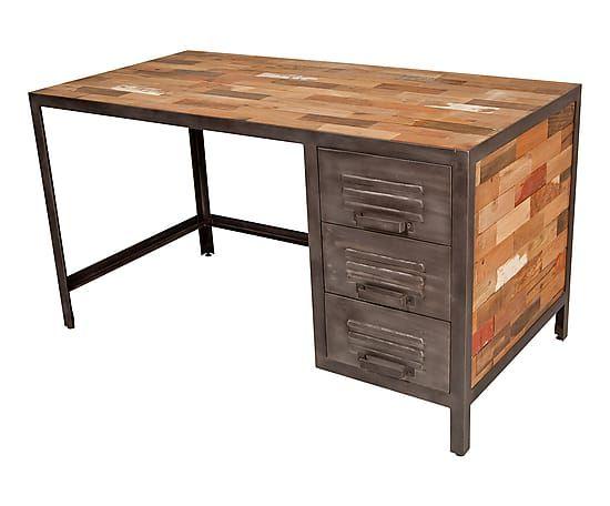 Bureau en bois recyclé tables de restaurants en bois recyclé sur