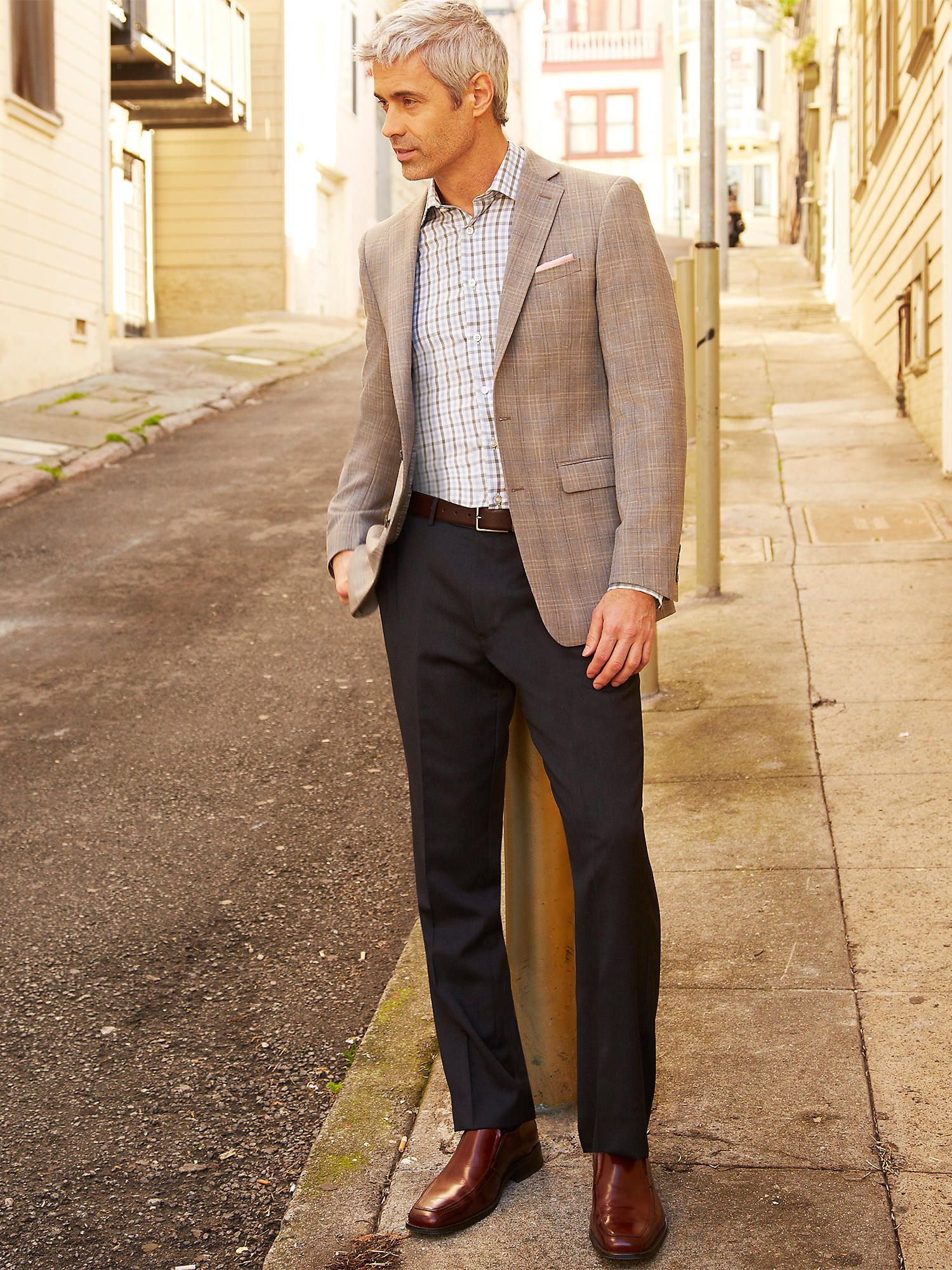 professional interview attire for men interview dress attire this outfit is great for a future teacher the guy is wearing slacks a long sleeve and a jacket plus really nice brown dress shoes very professional yet