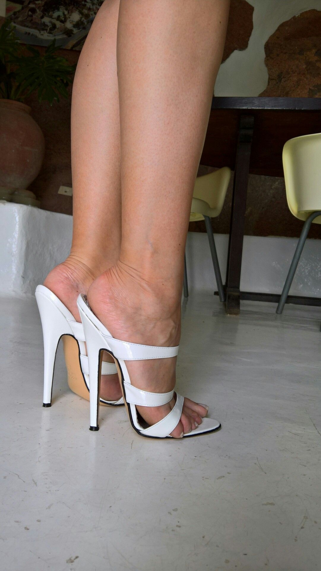 Sexy mules and great legs | Mules | Heels, Stiletto heels ...