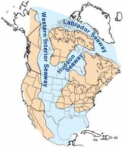 The Western Interior Seaway Also Called The Cretaceous Seaway - Us navy map of future of mexico