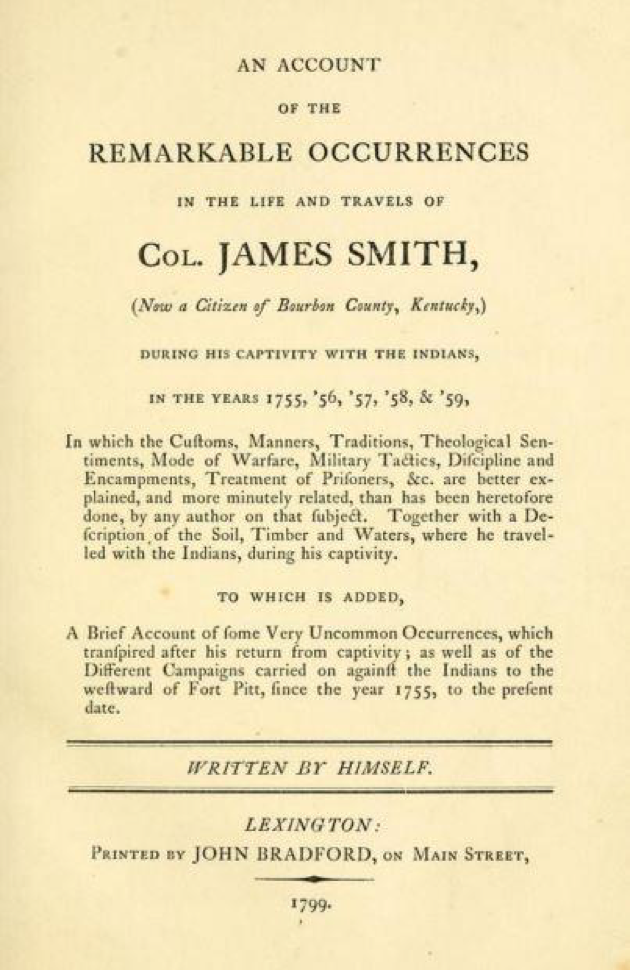 Portrait of a Frontiersman James Smith Fort Pitt Museum