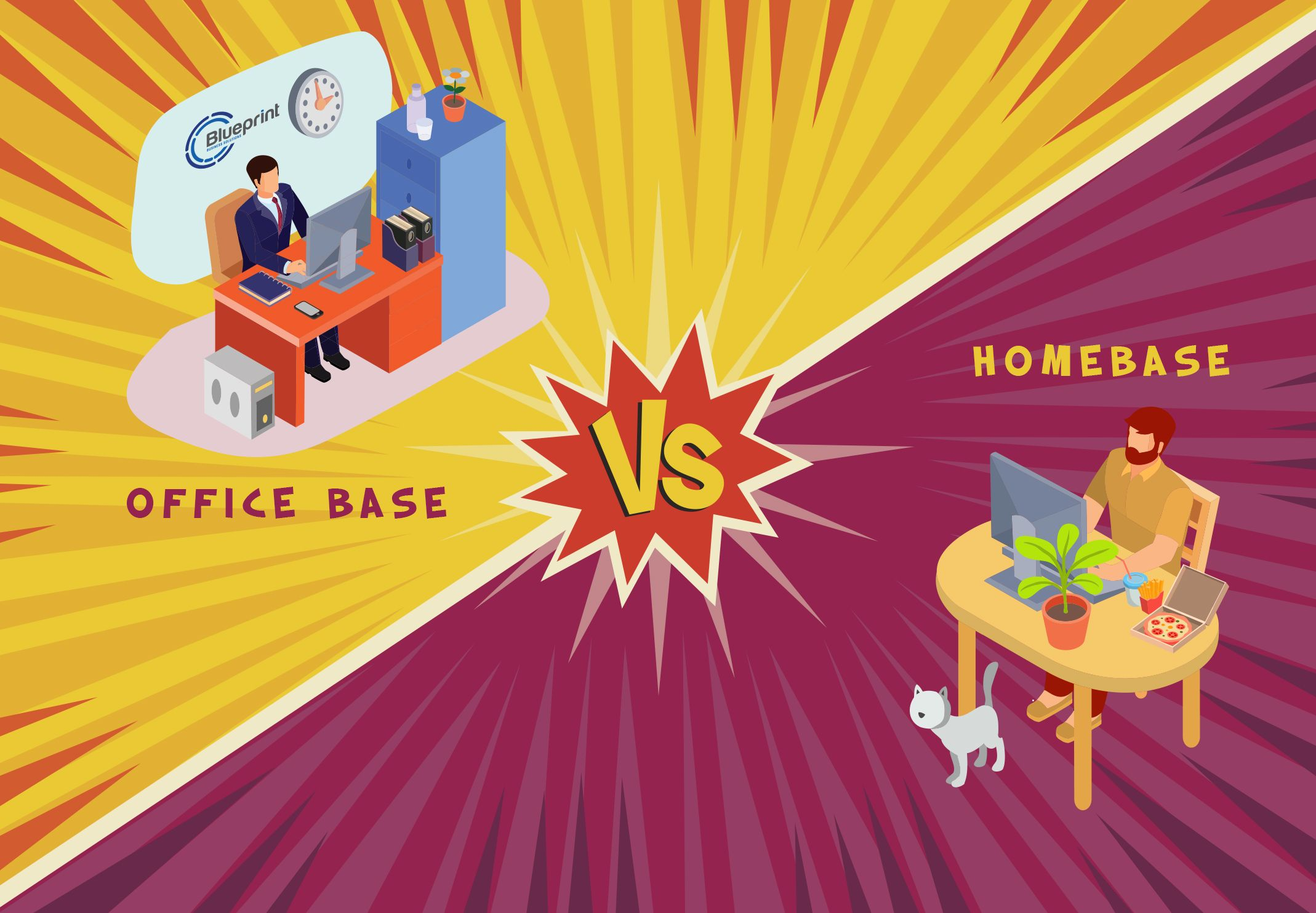 Office vs home work environment blueprint business solutions home work environment blueprint business solutions corp malvernweather Images