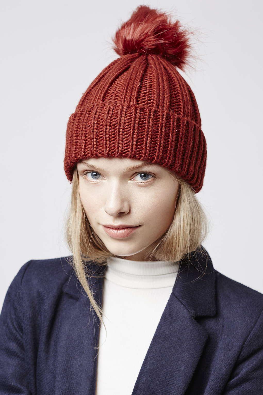 Photo 2 of Faux Fur Pom Beanie Hat