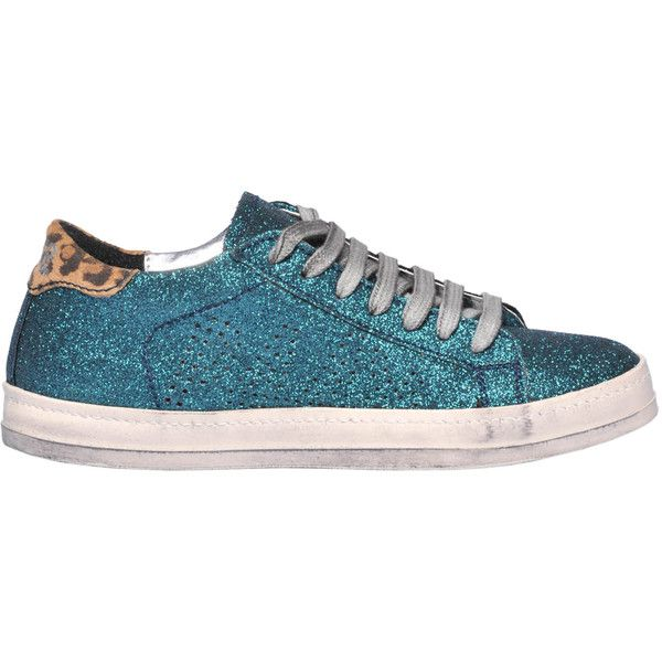 P448 Glittered Leather Sneakers ($110) ❤ liked on Polyvore featuring shoes, sneakers, glitter sneakers, real leather shoes, genuine leather shoes, rubber sole shoes and round toe shoes