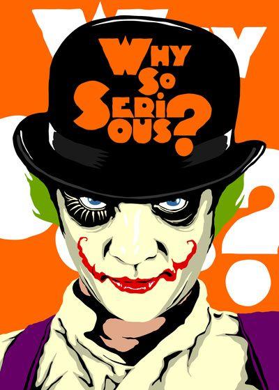 A Clockwork Joker - Serious Droog Art Print