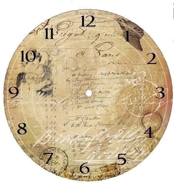 LÁMINAS VINTAGE,ANTIGUAS,RETRO Y POR EL ESTILO Clock faces - clock face template