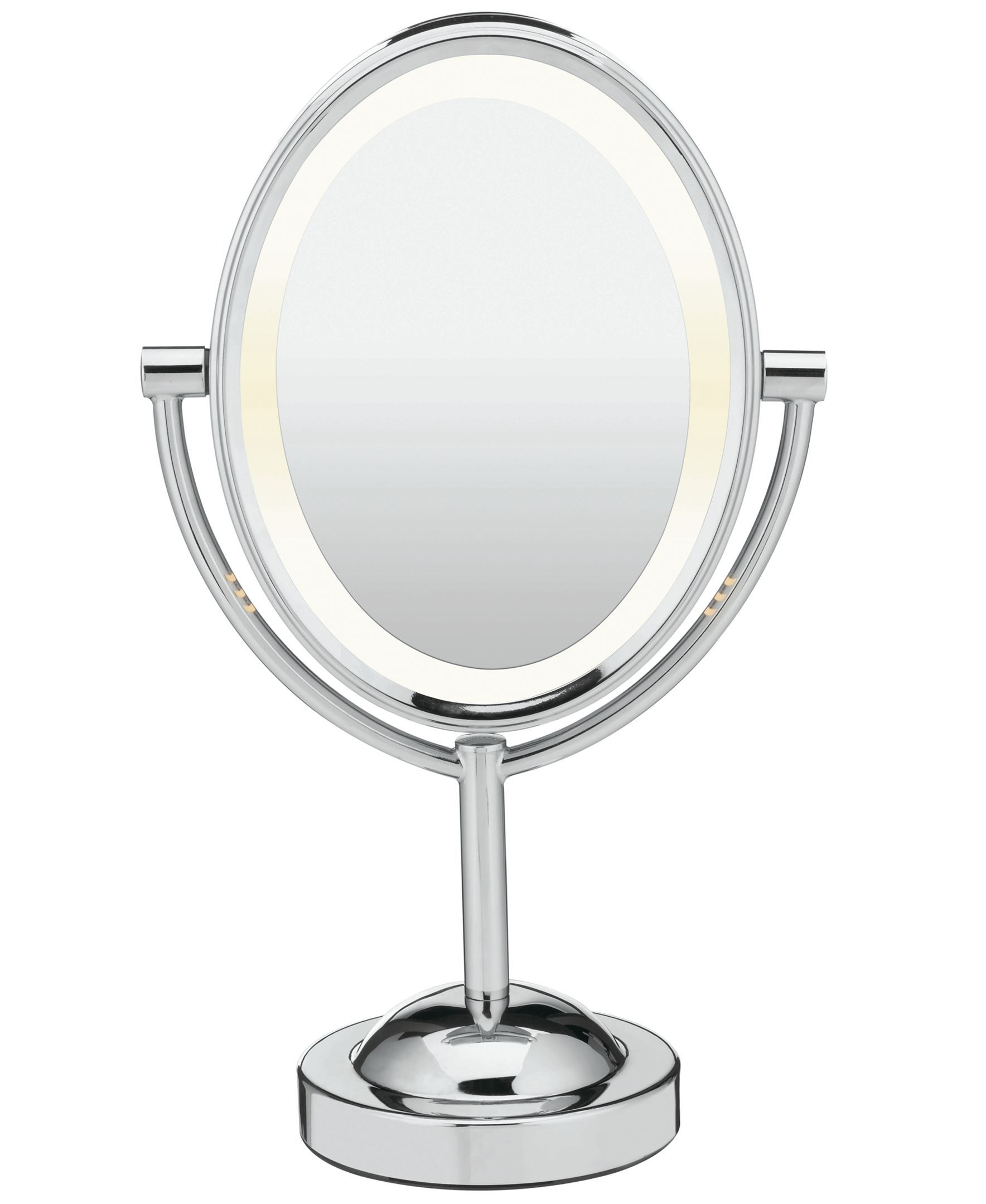 Double Sided Lighted Oval Mirror Makeup Mirror With Lights