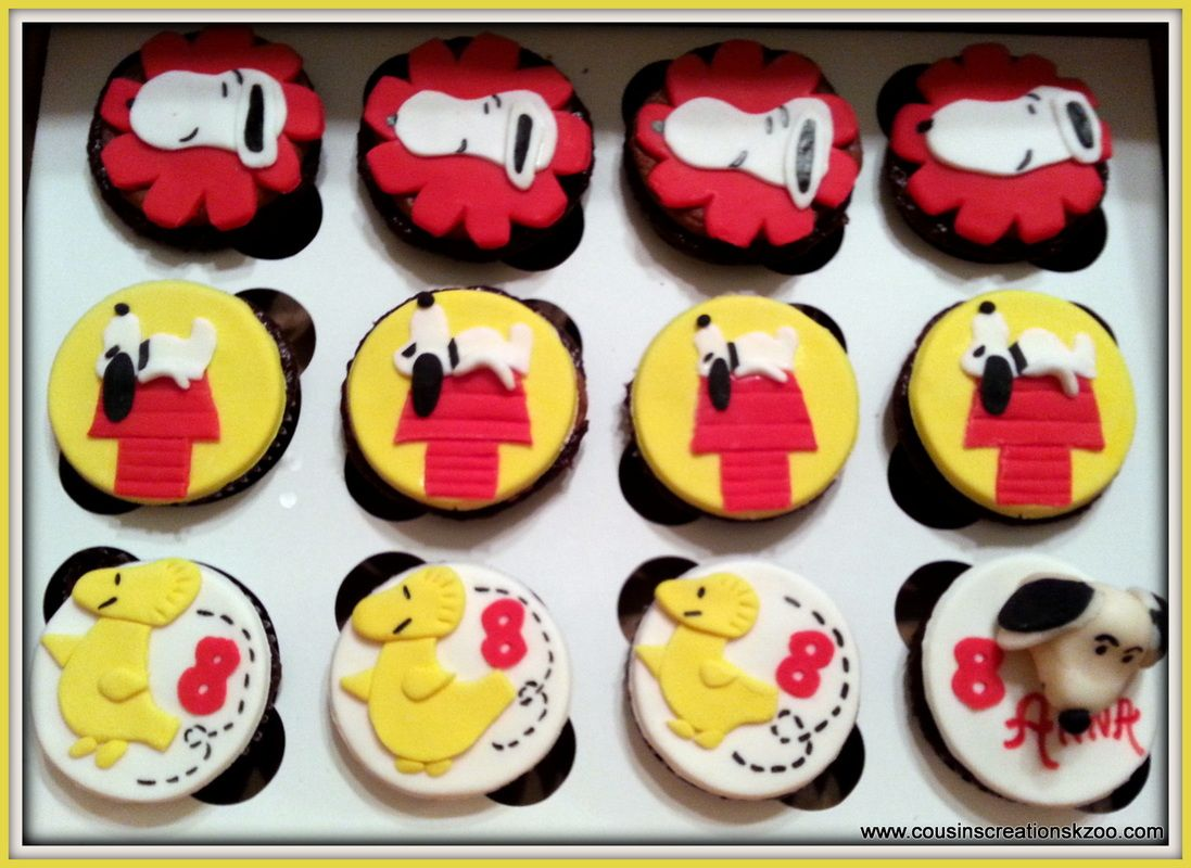 Gourmet Cupcakes Cousins Creations snoopys party Pinterest