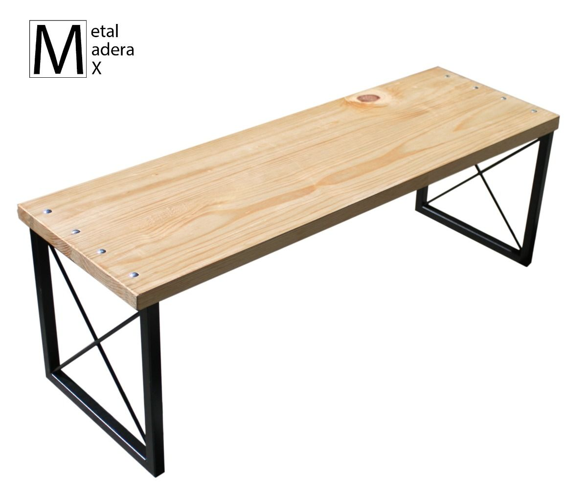 Banca dise o comedor mesa minimalista moderna madera for Muebles madera maciza uruguay