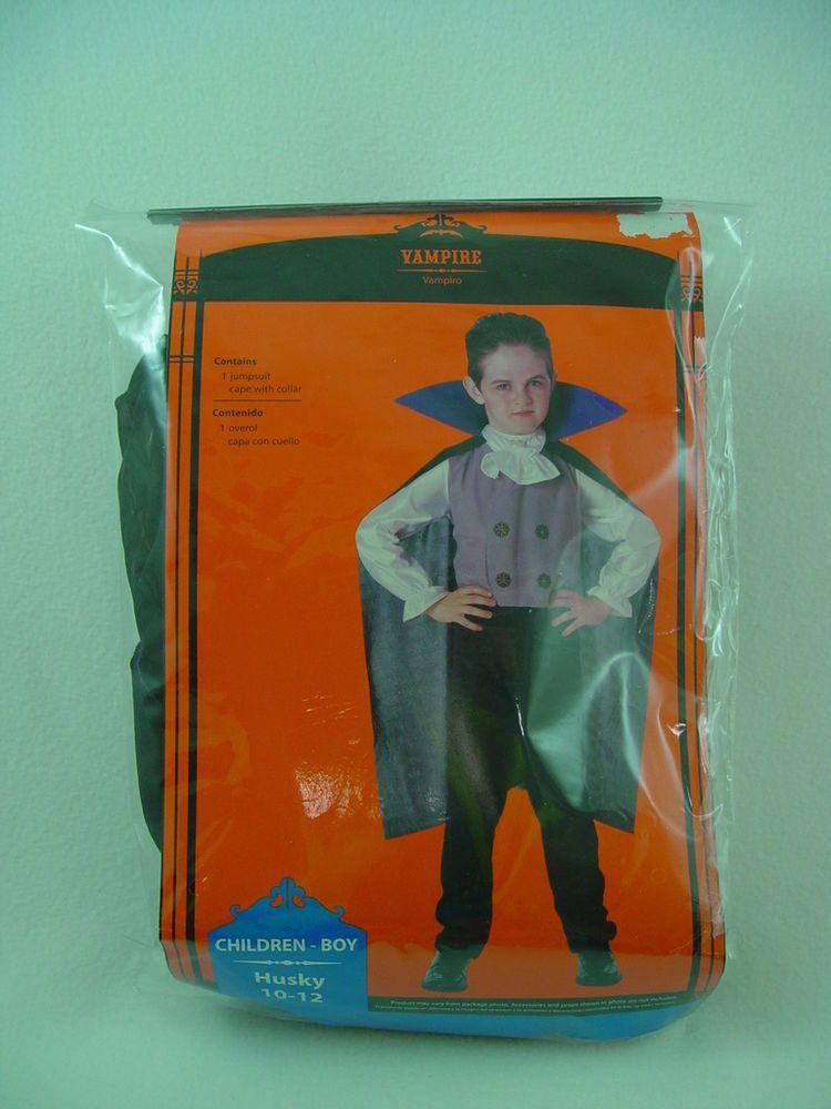 $13.99 Boy's Vampire Dracula Halloween Costume L Husky 10/12 #CompleteOutfit