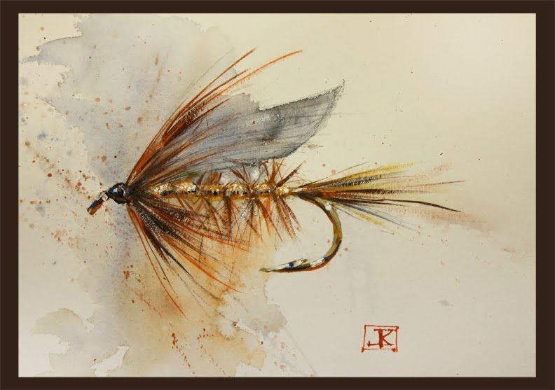 Drawing Flies 52 40 Wickhams Fancy Fly Fishing Art Fish