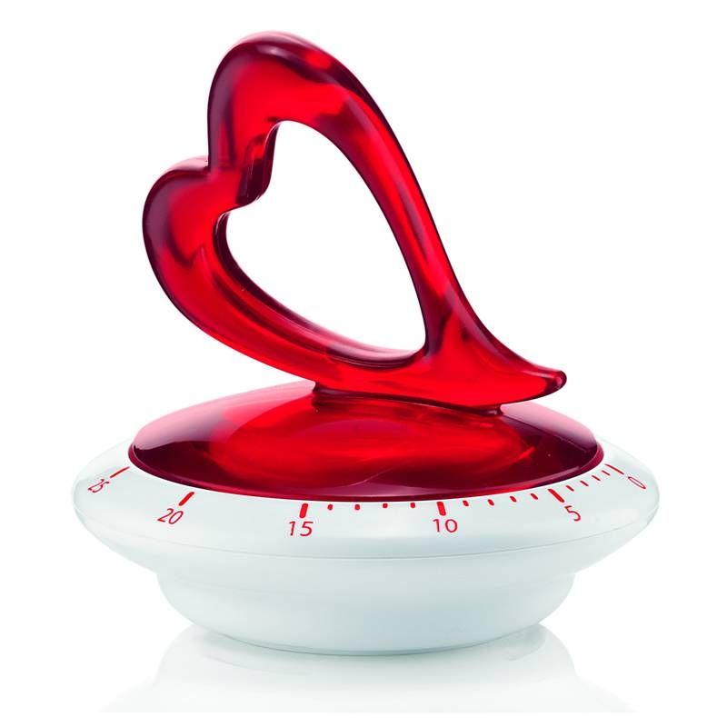 Timer cucina Love colore Ø9,5xh9,4 cm Bianco Trasparente   Guzzini
