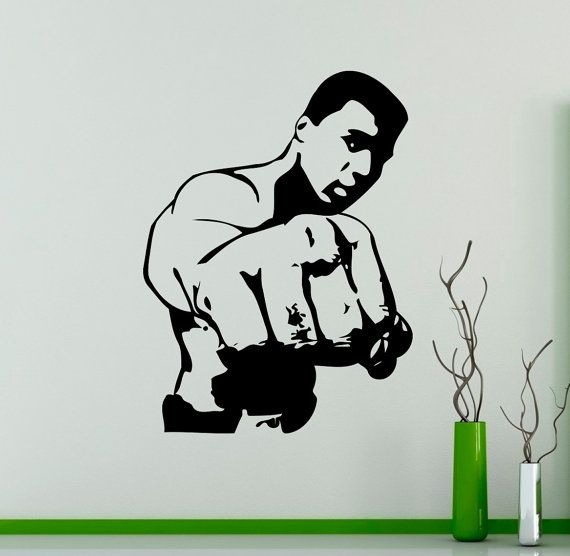 MUHAMMAD ALI SPORT WALL QUOTE VINYL ART STICKER STENCIL GRAPHIC COOL BEDROOM