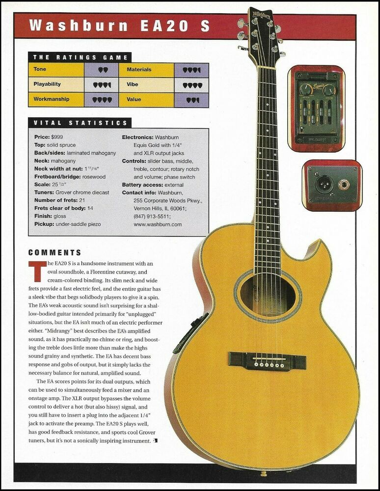 The Washburn Ea20 S Acoustic Electric Guitar Review Article With Specs Washburn Guitar Reviews Acoustic Electric Guitar Guitar