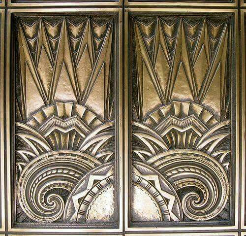 Beautiful Elevator doors from The Richfield Tower, AKA The Richfield Oil Building, Los Angeles, CA (demolished in 1969)