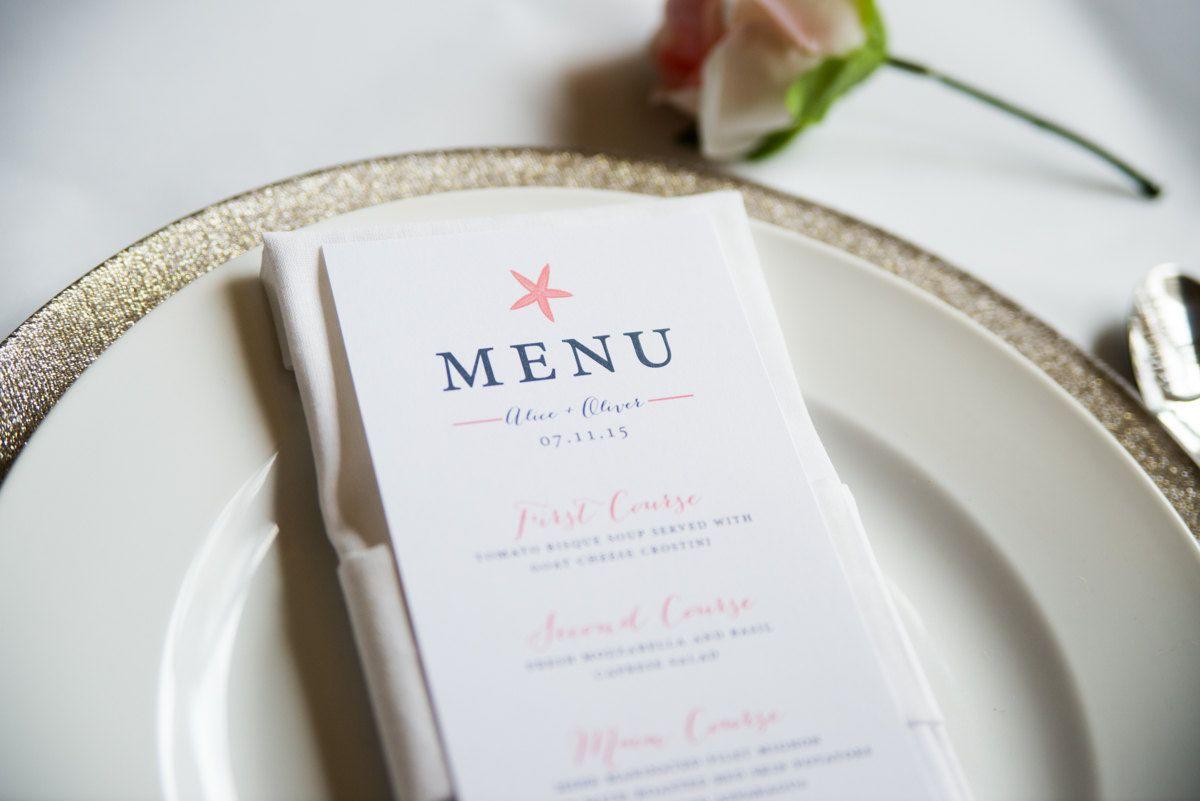 50 most creative nautical wedding ideas  wedding menu
