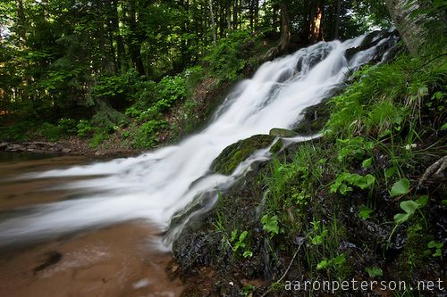 Morgan falls a waterfall near marquette michigan on for Morgan falls