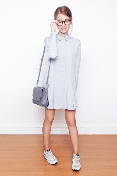 This Italian It Girl Is Your New Style Muse: Tobi I'm Your Type Shirt Dress, Lapalette Amber Muse Mini