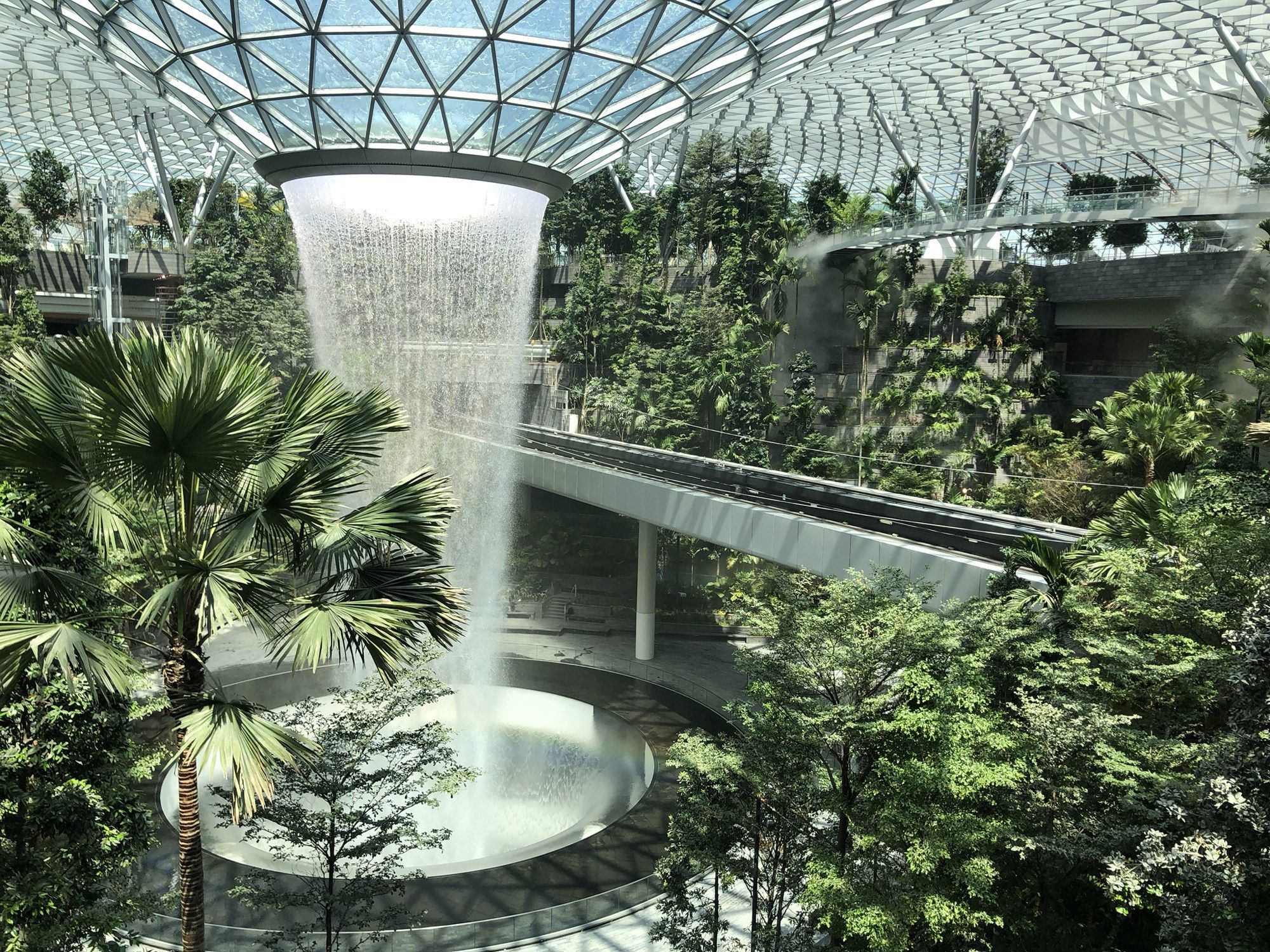 Inside The World S Best Airport Indoor Waterfall Singapore