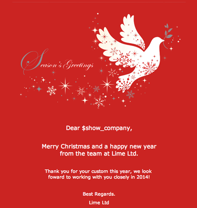 Clean red traditional christmas email template | Christmas Email ...