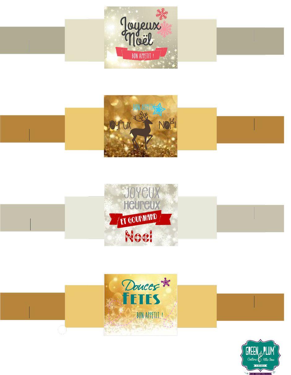 Rond De Serviette A Fabriquer Pour Noel printables de noël : étiquettes et ronds de serviette | rond