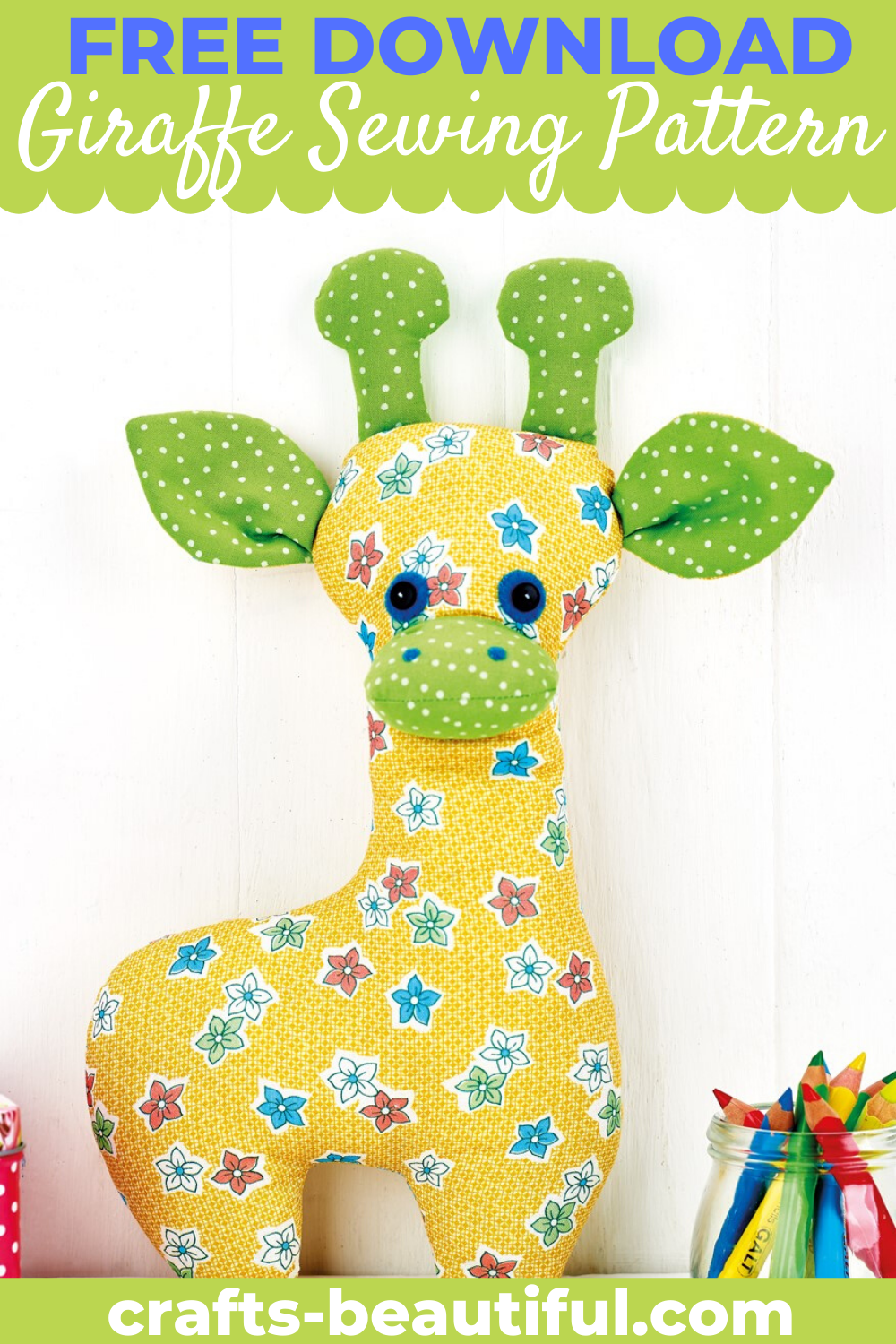 Giraffe Toy Sewing Pattern