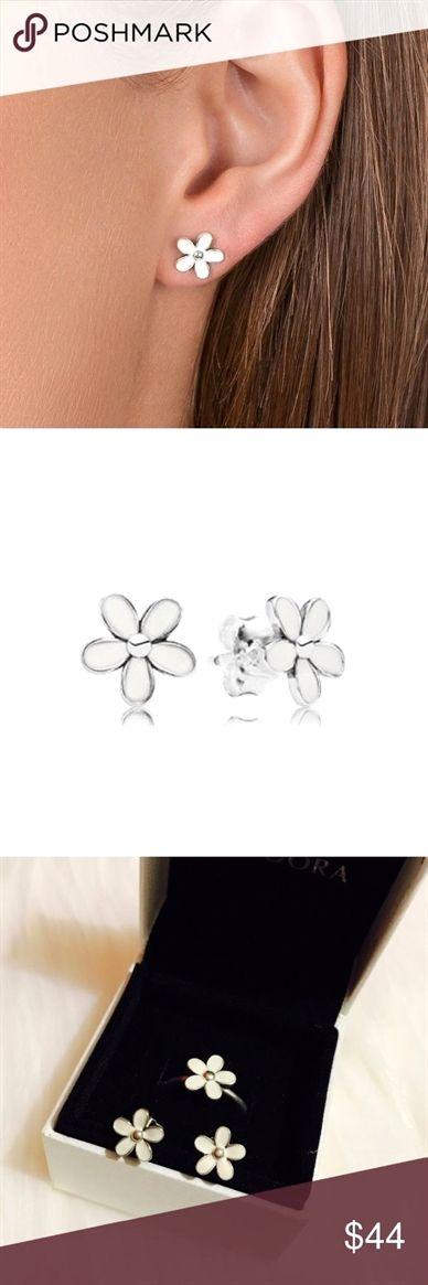 pandora darling daisy earrings
